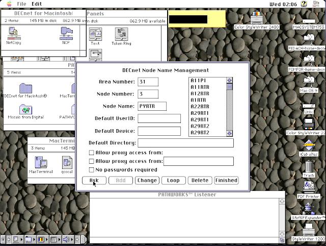 DECnet for Macintosh: Thursby TSSnet for Macintosh: Copy node database - Screen 2