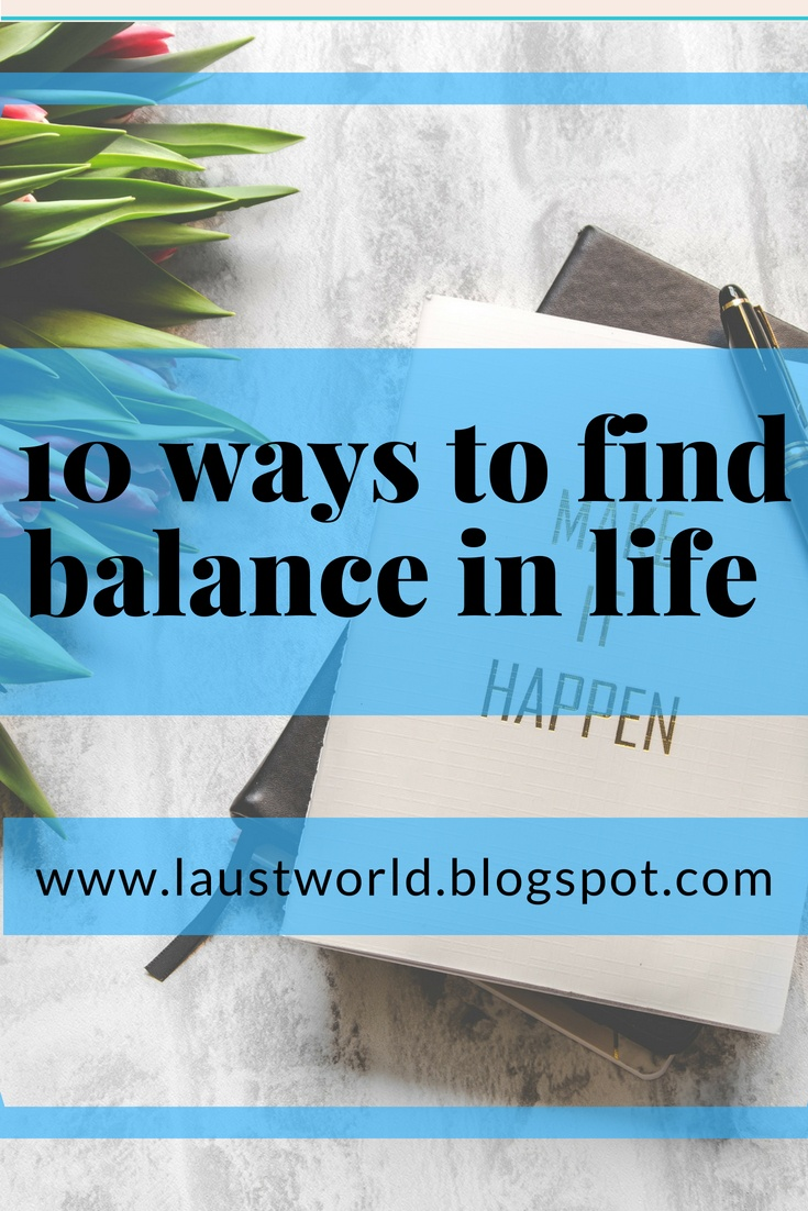 Pinterest image that says how to find balance in life