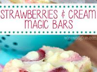Strawberries and Cream Magic Bars Recipe