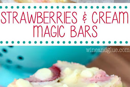 Strawberries and Cream Magic Bars Recipe
