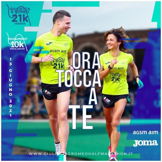 Giulietta&Romeo Half Marathon - T-shirt Joma