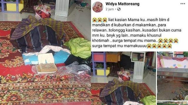 CURHAT Pilu Korban Gempa di Mamuju, Jenazah Ibunya Belum Dimandikan dan Dimakamkan