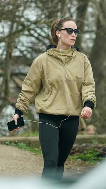 Olivia Wilde – Jogging candids in London