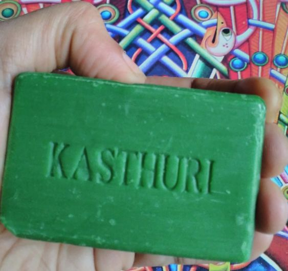 Kasthuri bar soap in hand - first impressions