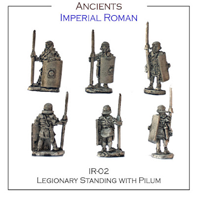 IR-02 Legionary Standing with Pilum - Single Figures - (32 Singles figures + 4 bases)