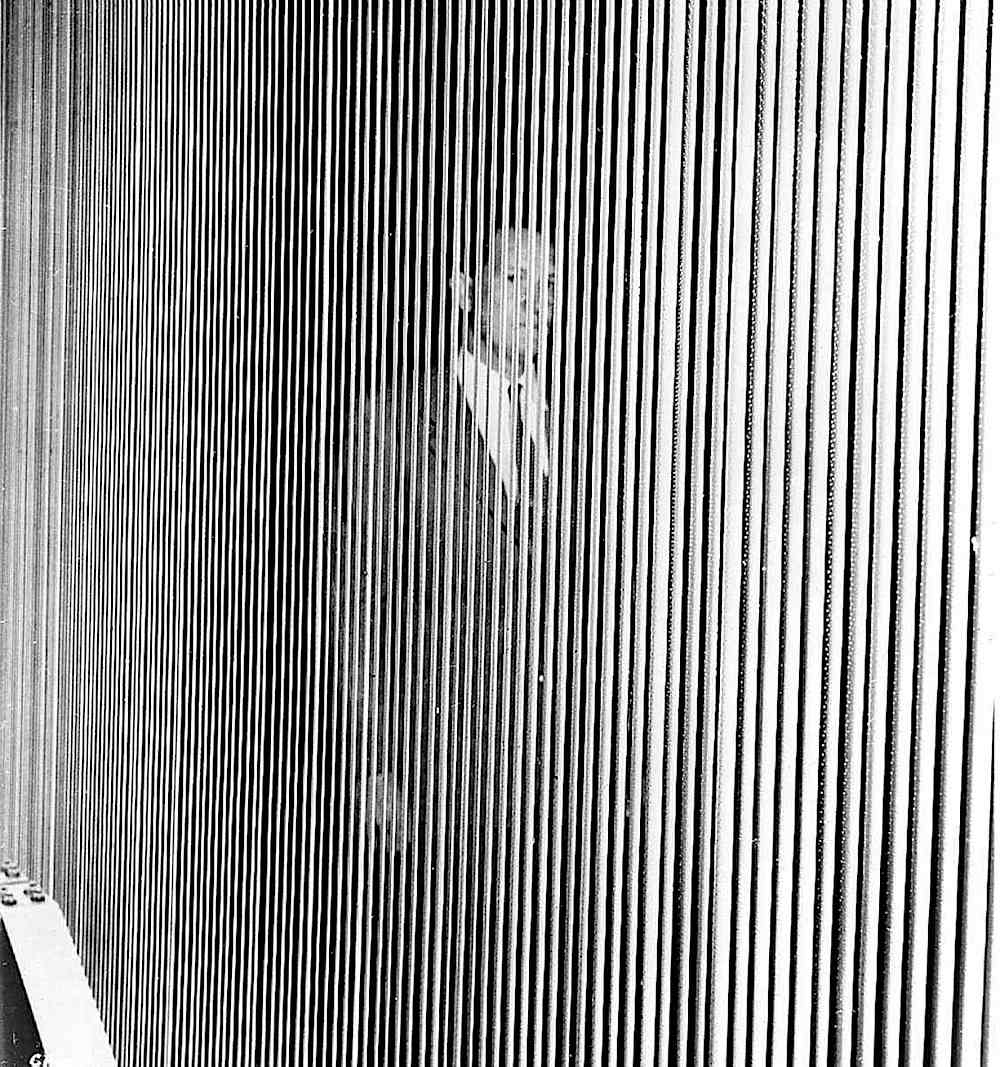a louvered cinema screen in 1952