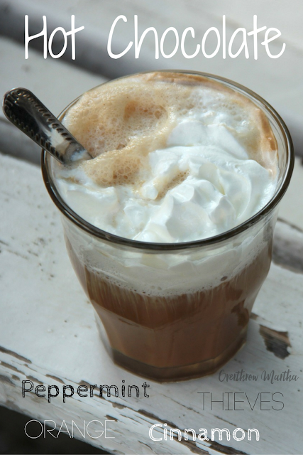 Warming Hot Chocolate Recipe with Essential Oils