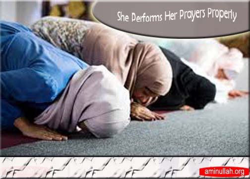 She Performs Her Prayers Properly