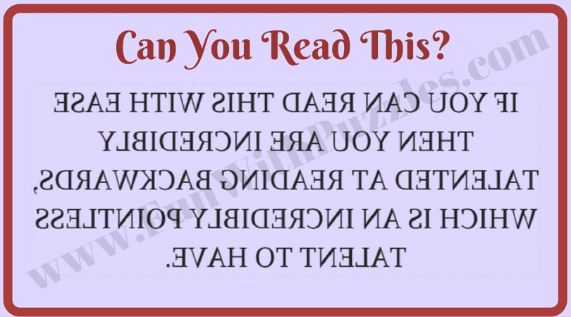Reading Brain Teasers To Train Your Brain Fun With Puzzles