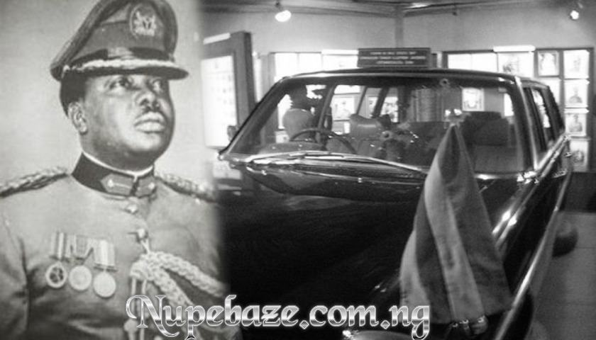 Brigadier General Murtala Rahmat Muhammad And His Car , General Murtala Ambush Car , Abagana Ambush , Nigerian Army Coup , The Nigeria Military Coup Attempt of February 13, 1976. Led By Lt. Col. Buka Suka Dimka