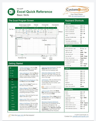 [FREE PDF EBOOK]Excel Quick Reference - CustomGuide 2020 with EVBA.INFO AND ETIPFREE.COM
