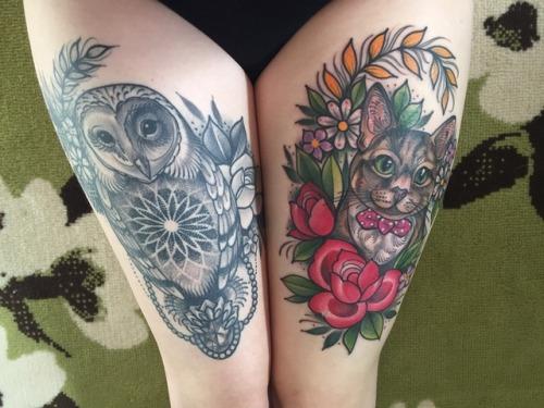 vemos el tatuaje de un buho