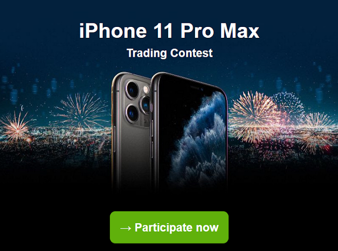 احصل الان على فرصه ربح iPhone 11 Pro Max مجانا مع مسابقة justforex