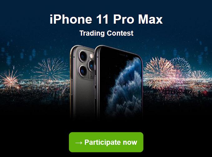 احصل الان على فرصه ربح iPhone 11 Pro Max مجانا مع مسابقة justforex