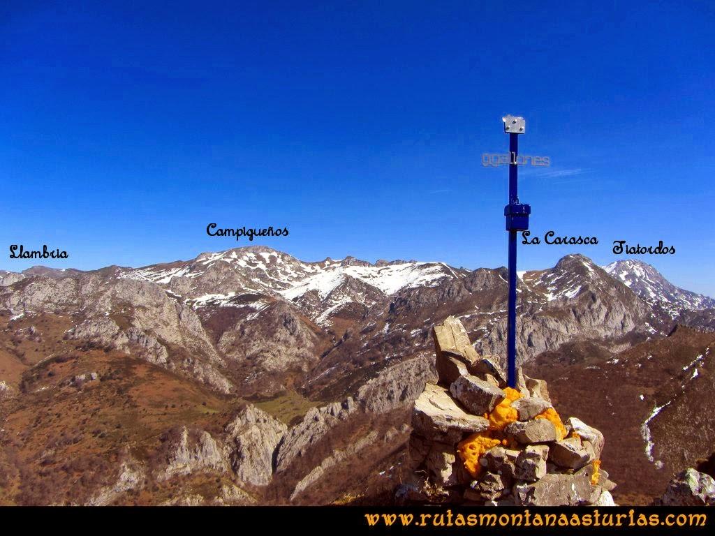 Ruta Pico Senda Requexon Valdunes: Vista desde el Requexón