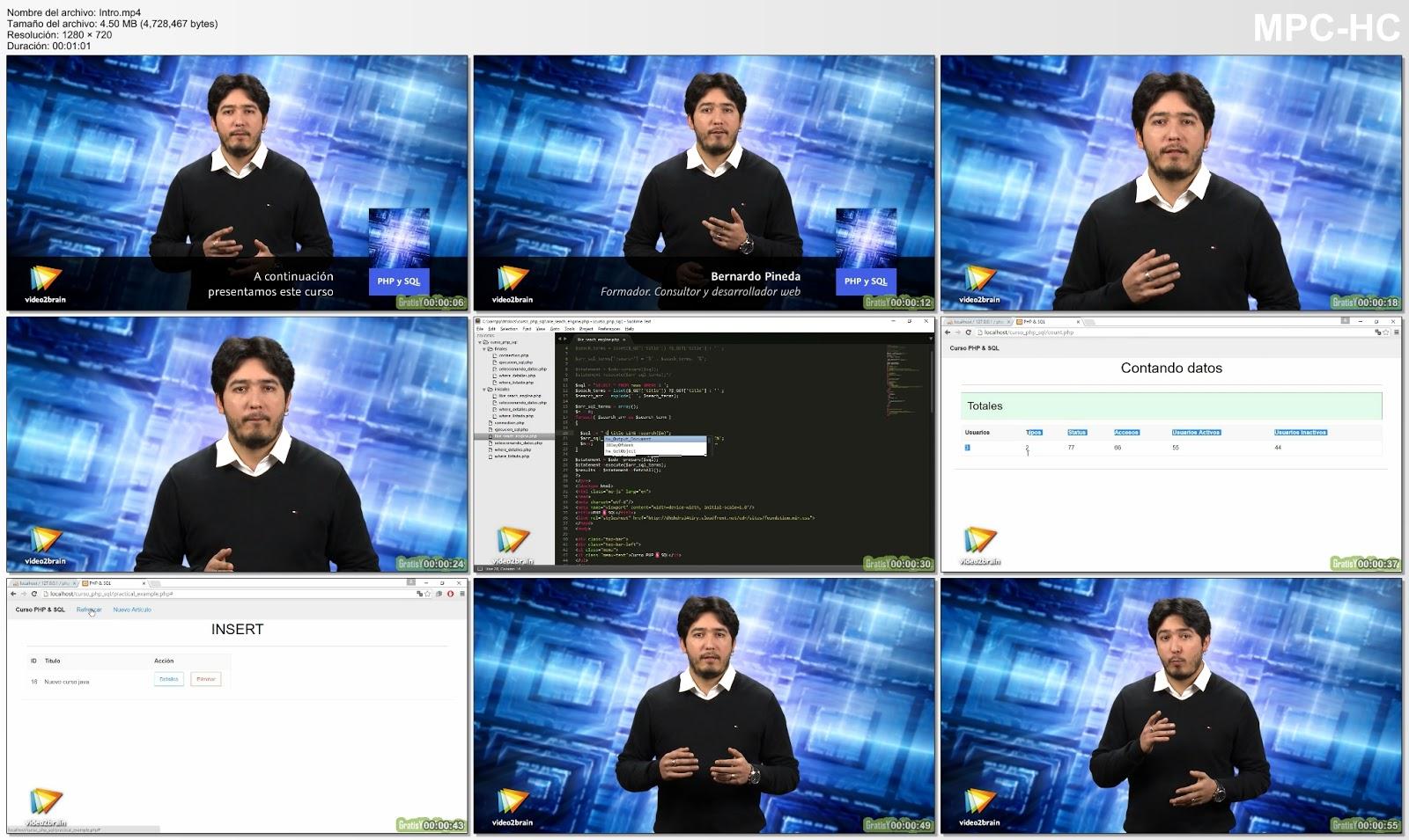 Curso video2brain sql y php captura 2