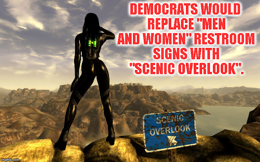 "Obama's ""Scenic Overlook"" signs on school bathrooms to be replaced by traditional ""Boys and Girls"""