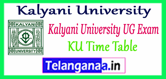 Kalyani University Part 1st 2nd 3rd Exam BA B.Sc B.Com UG Time Table 2018 Admit Card
