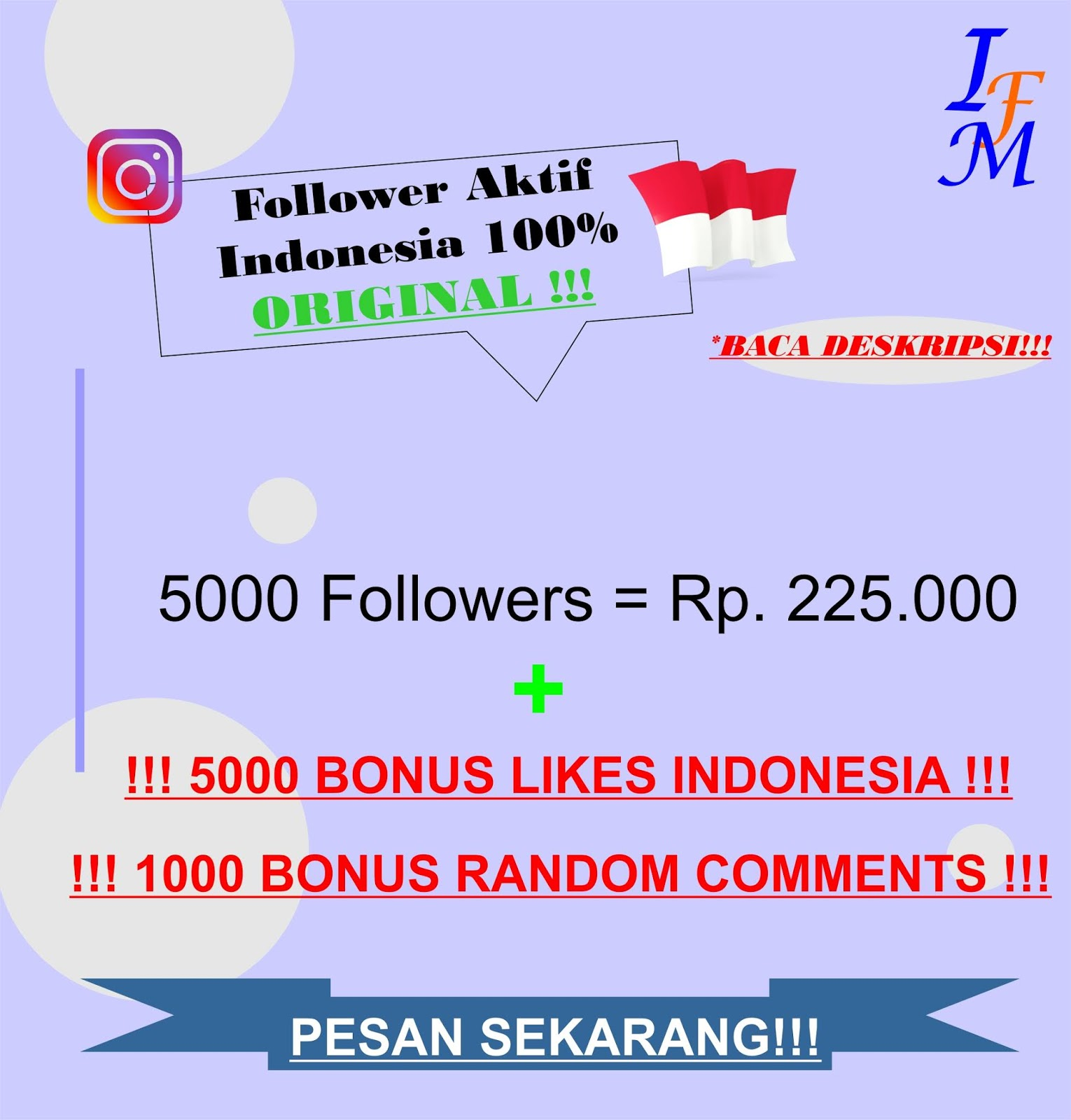 Jasa Tambah 5000 Follower Real Instagram Aktif 100% Akun Original Indonesia Murah