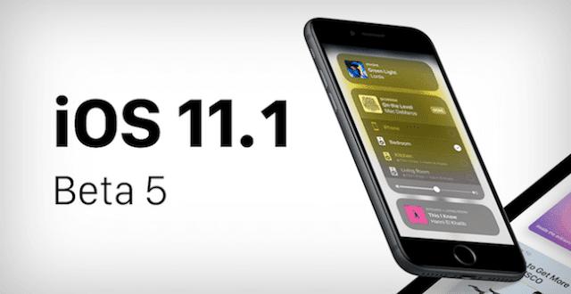 iOS 11.1 beta 5 release ابل تطلق