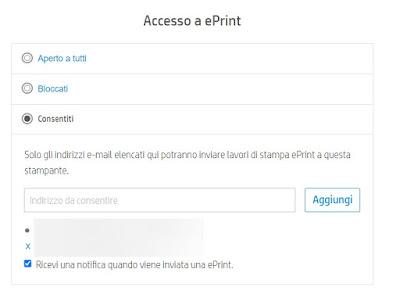 Privacy stampante
