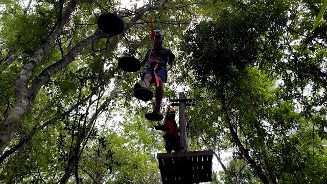 Arvorismo - Parque Ecológico Rio Formoso [Foto: Programa Tudo de Bom SBT Maranhão]