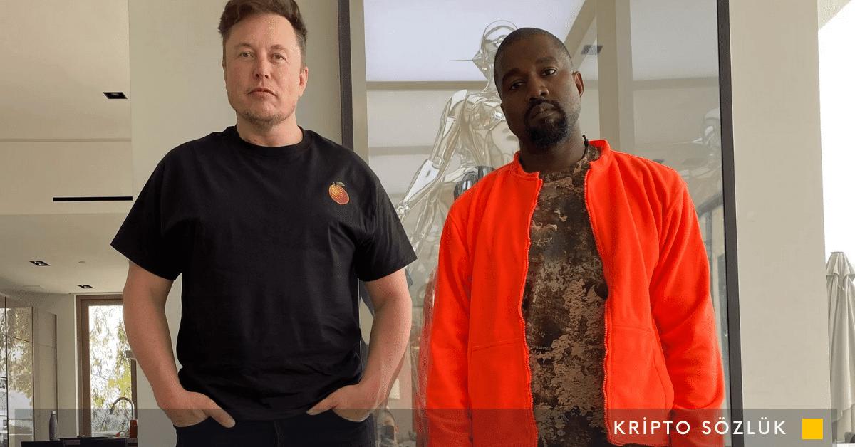Elon Musk, ABD Başkanlığı İçin Bitcoin Yanlısı Kanye West'i Destekliyor