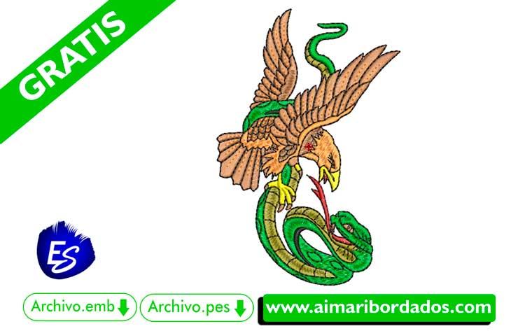 Serpiente y águila para bordar a máquina DESCARGA GRATIS