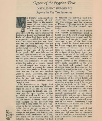 1.Revista The Mystical Triangle 08/1929