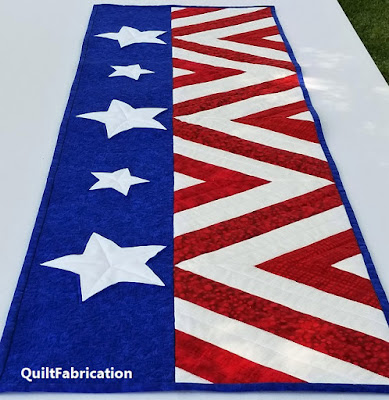 Salute table runner by QuiltFabrication