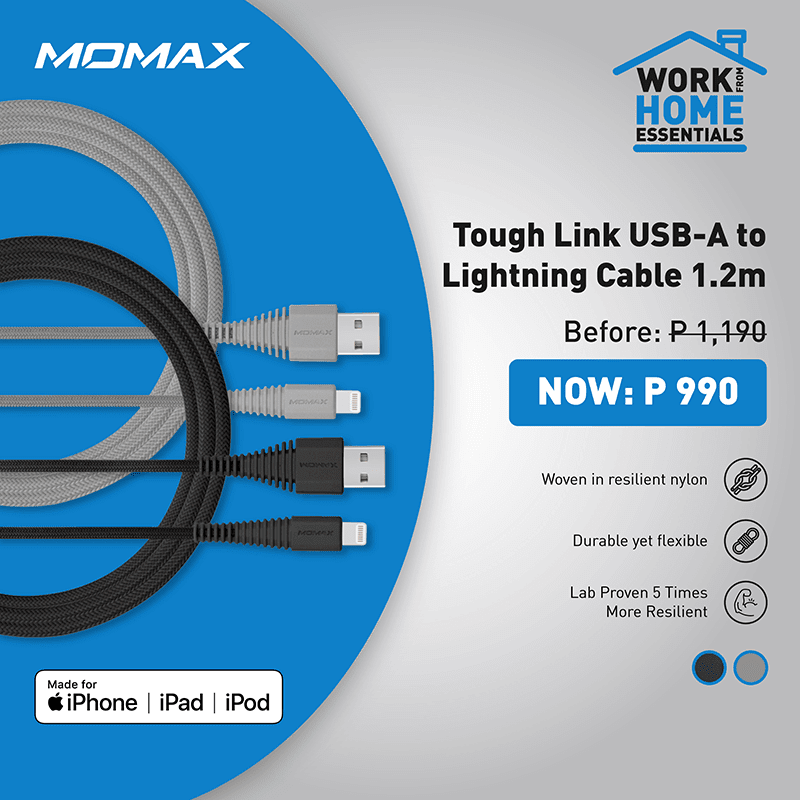 Momax Tough Link USB-A to Lightning Cable