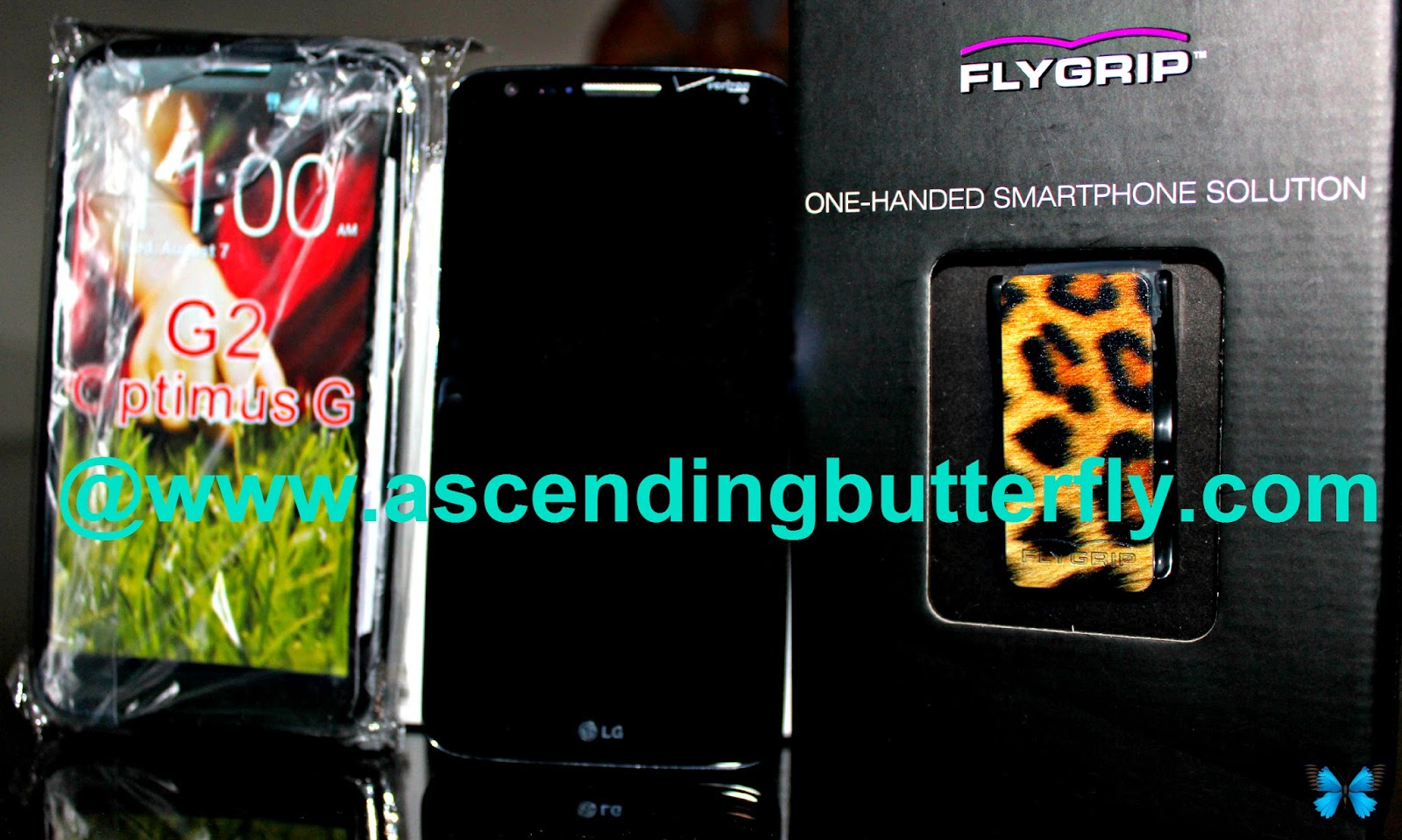 LG G2 Phone Cover, LG G2 Smartphone for Verizon, FlyGrip, One-handed Smartphone Solution,