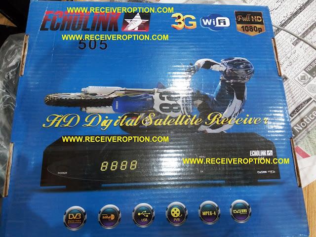 ECHOLINK 505 HD RECEIVER POWERVU KEY OPTION