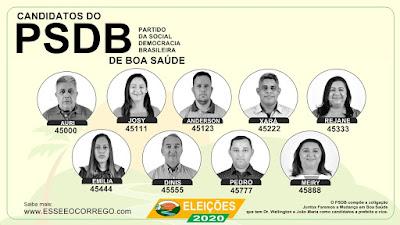 Conheça os vereadores do PSDB de Boa Saúde