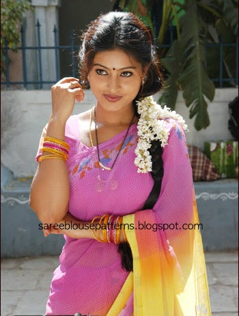 Sneha In Pink Printed Chiffon Saree Saree Blouse Patterns