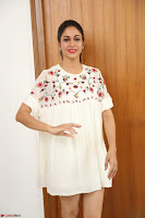 Lavanya Tripathi in Summer Style Spicy Short White Dress at her Interview  Exclusive 299.JPG