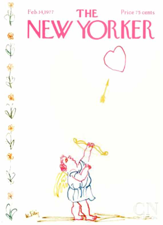 valentine's day, magazine covers, the new yorker, william steig illustration