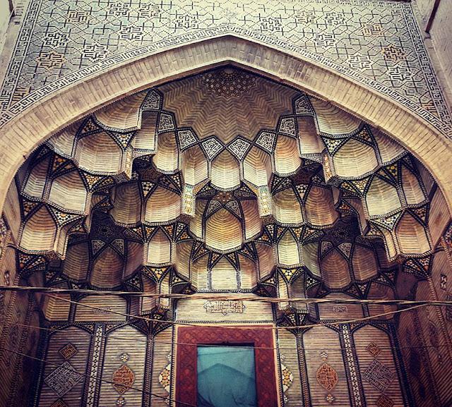 Green Pear Diaries, arquitectura, arquitectura persa, Irán, mezquitas, Mezquita de Jameh en Esfahan