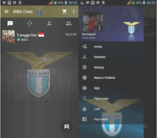 BBM Mod Tema Sepak Bola Lazio V2.13.0.22 Apk  Gratis Terbaru
