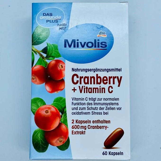 MIVOLIS CRANBERRY + VITAMIN C, THỰC PHẨM BỔ SUNG DƯỠNG CHẤT