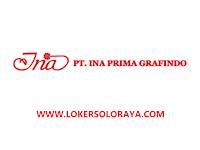 Lowongan Kerja Sales Marketing Percetakan di Ina Prima Grafindo Solo