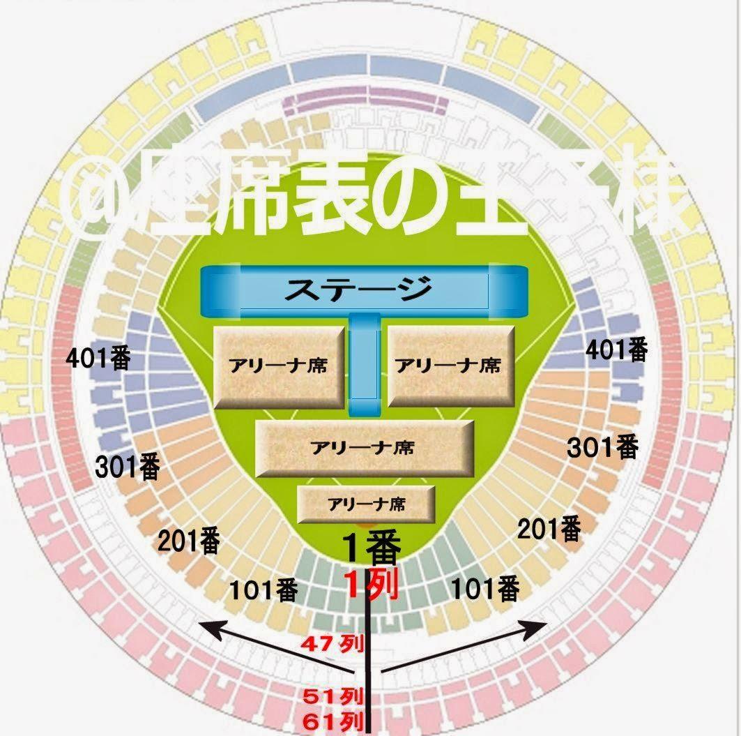 キスマイジャーニー 座席表 4大ドーム(ナゴヤ/京セラ/福岡 ...
