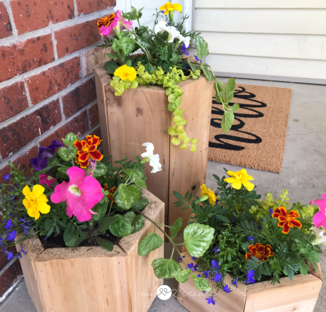 Beautiful Porch Planters, MyLove2Create