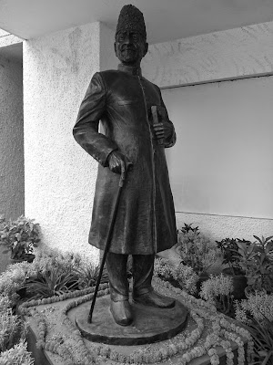 Statue of Maulana Abul Kalam Azad in Construction Yard