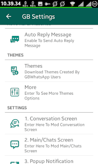 gbwhatsapp new setting options