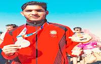 Suraj Panwar wins silver in men's 5000m race walk at Youth Olympics
