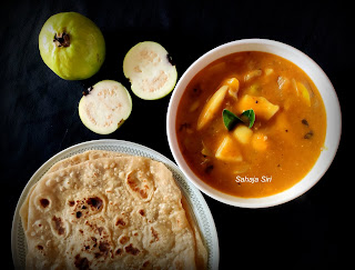 Guava masala gravy without curds