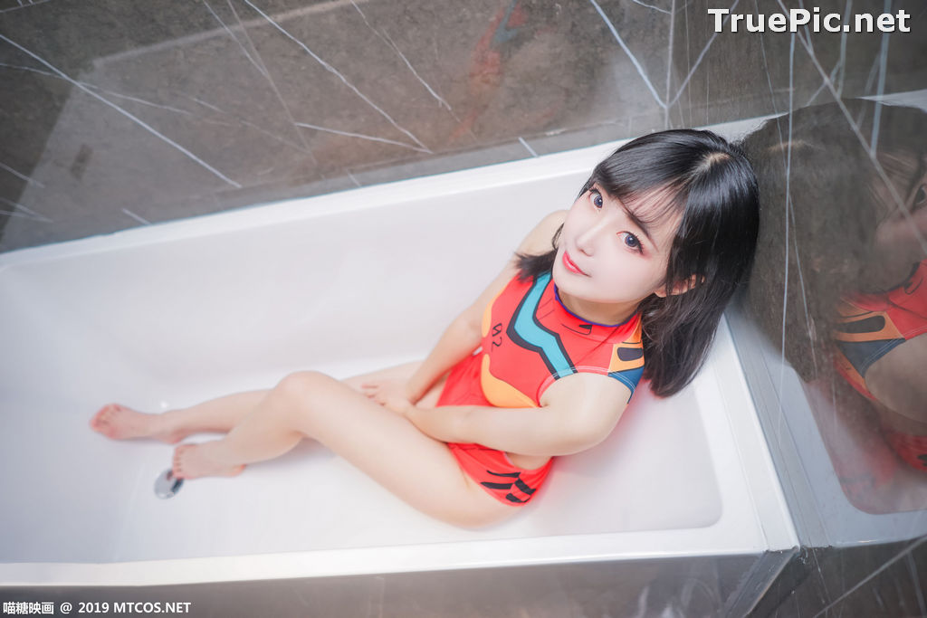 Image [MTCos] 喵糖映画 Vol.038 – Chinese Cute Model – Red Line Monokini - TruePic.net - Picture-3