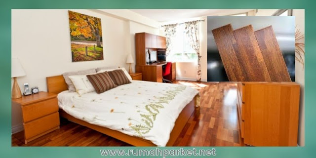 material lantai untuk kamar tidur - parket solid merbau