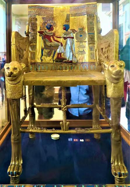 The Golden Throne of King Tutankhamun